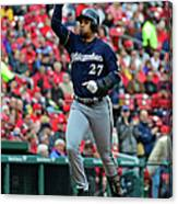 Shelby Miller and Carlos Gomez Canvas Print