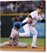Shin-soo Choo and Troy Tulowitzki Canvas Print