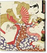 Shunga, Husband and Wife Canvas Print
