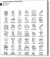 Simple Set of Healthcare and Medical Related Vector Line Icons. Outline Symbol Collection Canvas Print