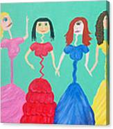 Skinny Miss Minnies..anorexic Models Canvas Print