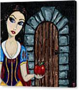 Snow White Considers The Apple Canvas Print