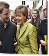 SNP Leader Nicola Sturgeon Unveils An Anti-Austerity Plan To Boost the NHS Canvas Print