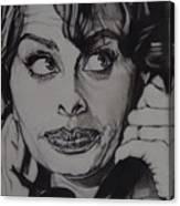 Sophia Loren Telephones Canvas Print