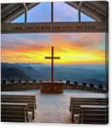 South Carolina Pretty Place Chapel Sunrise Embraced Canvas Print
