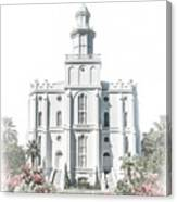 St George Temple - Celestial Series Canvas Print