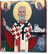 St. Nicholas Patron of Mariners Canvas Print
