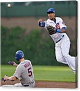 Starlin Castro, Curtis Granderson, and David Wright Canvas Print