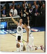Stephen Curry and Giannis Antetokounmpo Canvas Print