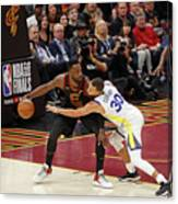 Stephen Curry and Jeff Green Canvas Print