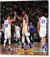 Stephen Curry and Kevin Durant Canvas Print