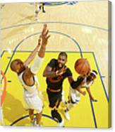 Stephen Curry and Kyrie Irving Canvas Print