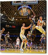 Stephen Curry and Roy Hibbert Canvas Print