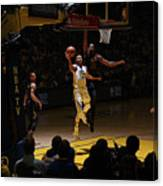Stephen Curry and Tristan Thompson Canvas Print