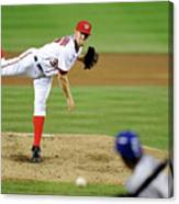Stephen Strasburg and Dee Gordon Canvas Print