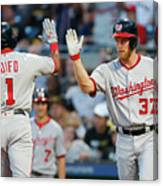 Stephen Strasburg and Wilmer Difo Canvas Print