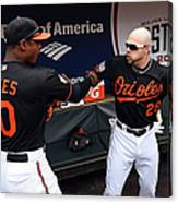 Steve Pearce and Adam Jones Canvas Print