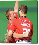 Steven Souza and Jordan Zimmermann Canvas Print