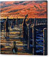 Sunrise At The Inlet Canvas Print