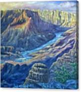 Sunrise in the Caynon Canvas Print