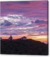Sunrise In The Desert Of Las Palmas, Castellon Canvas Print