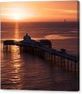 Sunrise over Llandudno pier 2 Canvas Print