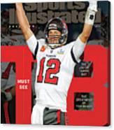 Tampa Bay Bucs Tom Brady Super Bowl LV Commemorative Issue Cover Canvas Print