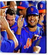 Taylor Teagarden and Bobby Abreu Canvas Print