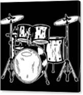 Tempo Music Band Percussion Drum Set Drummer Gift Canvas Print