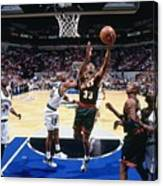 Terry Porter and Hersey Hawkins Canvas Print