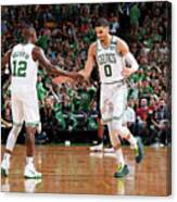 Terry Rozier and Jayson Tatum Canvas Print