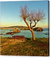 The Beach Of The Ris In Noja, Cantabria Canvas Print