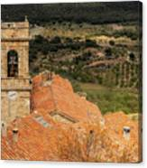 The Bell Tower Of The Town Of Culla In Castellon Canvas Print