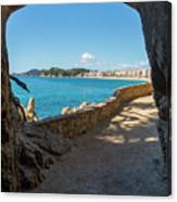 The Cami De Ronda By Lloret De Mar, Girona Canvas Print