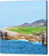 The Cantabrian Coast By Llanes, Asturias, Spain Canvas Print