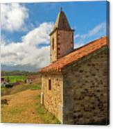 The Church Of San Andres In Paracuelles, Cantabria Canvas Print