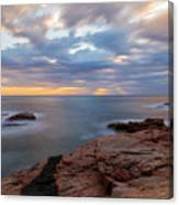 The Coast Of Begur At Sunrise In Long Exposure Canvas Print