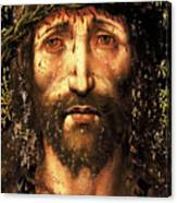 The face of Christ or the suffering Christ Canvas Print