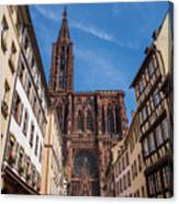The Notre-dame Cathedral In Strasbourg Canvas Print