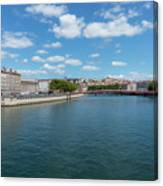 The Saona River In Lyon, France Canvas Print