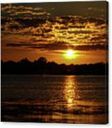 The Sunset over the Lake Canvas Print