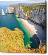 The white cliffs of Etretat, the alabaster coast Canvas Print