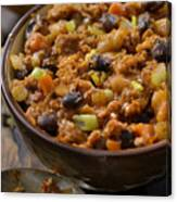 Three Bean Chili with Lentils Canvas Print