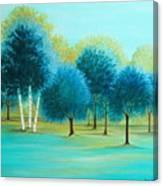 Three Birch Trees Canvas Print