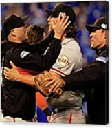 Tim Hudson and Madison Bumgarner Canvas Print