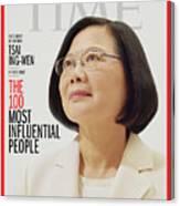 TIME 100 - Tsai Ing-Wen Canvas Print