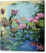 Times Between - water Lilies Canvas Print