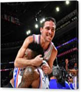 T.j. Mcconnell and Robert Covington Canvas Print