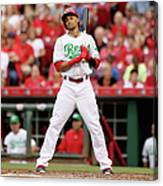 Todd Frazier and Billy Hamilton Canvas Print