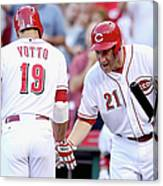 Todd Frazier and Joey Votto Canvas Print